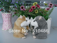 Wholesale Takara Tomy Toy - Wholesale - Best Selling! Takara Tomy Mimicry Pet Hamster Talking Plush Toy Talking Animal Gray Brown Color Free