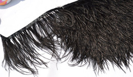 Wholesale Wholesale Ostrich Feather Trim - Free Shipping Wholesale 10yards lot black 6-7inch(15-18cm)in width ostrich feather trimming fringe for wedding dress