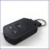 Wholesale Hk Vision Camera - HK POST Free Shipping 1080P IR Night vision Spy Car keychain camera TV out Motion detection Full HD 1920 * 1080P car key camera