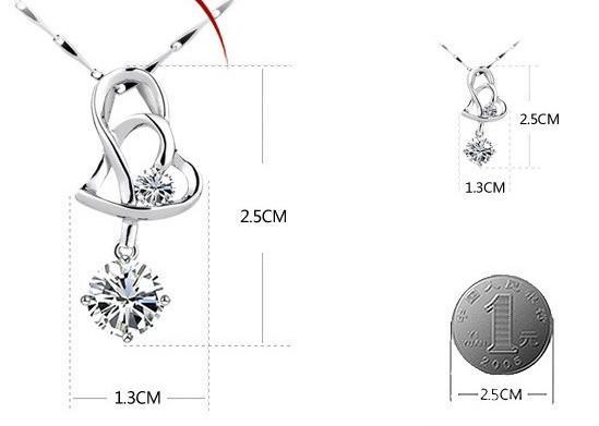 925 Sterling Silver Pendentif Collier Nouvelle Arrivée Amour Charme Cristal Coeur Pendentif Améthyste Collier Bijoux Femmes Beauté Livraison Gratuite