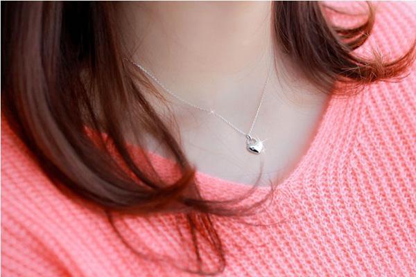 Heiße Art 925 Sterlingsilber-Halskette Liebe Charm Schwimm Medaillons Strass Elemente Kristall-hängende Halsketten-Schmucksachen Freies Verschiffen