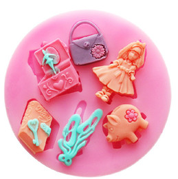 Wholesale Princess Molds - latest! 7.3x0.8cm Princess music box dairy silicone fondant cake molds soap chocolate mould for the kitchen baking