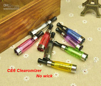 Wholesale Ce6 Atomizer Newest Cartomizer - Newest CE6 Cartomizer No wick CE5 CE6 Cartomizer,2.4ml Atomizer, Clearomizer for ego Electronic Cigarette,ego-t,ego-w,510 e cigarette