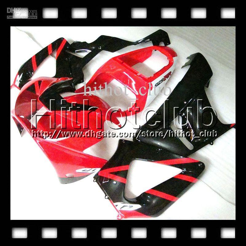 7gifts Free Customized For HONDA CBR929RR Red black 00 01 CBR 929 929RR HL6515 900RR CBR900RR CBR929 RR 2000 2001 HOT Gloss red Fairing Body