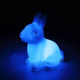 Wholesale Color Changing Led Rabbit Lights - Rabbit Shape Night Light LED Rabbit Lamp Color Changing Desk Bedroom Party Wedding night light