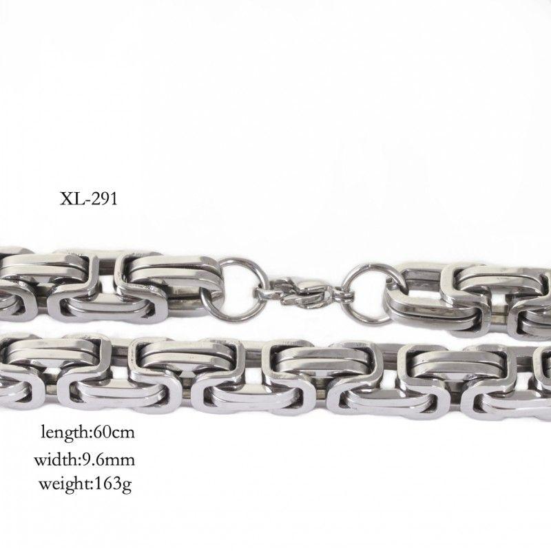 9.6mm huge heavy silver byzantine chain necklace & bracelet 316L Stainless Steel jewelry set for men's XMAS jewelry