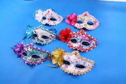 $enCountryForm.capitalKeyWord Australia - Women Sexy Hallowmas Venetian mask masquerade masks with lace flower feather Eyeliner and Rhinestone mask for dance party mask