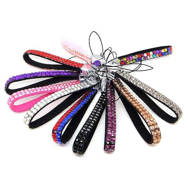 KC1201 Rhinestone Crystal Cell Phone Chain Camera Electronic Key Chain Strap Accessory 2012 New Arrival Free Shipping