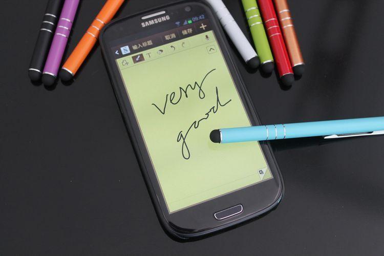 iPhone iPadタブレットPCの携帯電話用の金属普遍的な容量性スタイラスタッチペン送料無料20ピース/ロット