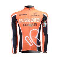 2e92f9fbd Cycling Jersey 2013 EUSKALTEL EUSKADI Cycling Long sleeve bike jersey men s bicycle  wear Fleece Thermal Available maillot Tour de France