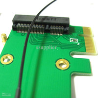 Wholesale Wireless Pci Desktop - 1 PIECE 2 in1 full   Half Size Wireless Wifi Mini Pci-e Card to Pci-e pci express Adapter