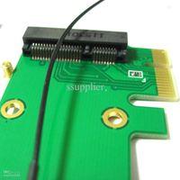 mini expresskarten großhandel-1 STÜCK 2 in1 voll / halbe Größe Wireless Wifi Mini Pci-e-Karte zu Pci-e PCI Express Adapter