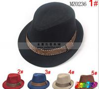 Wholesale Baby Boy Red Fedora - Wholesale - Baby kids children's Caps accessories hat boys grils hats fedora hat,10pcs lot,dandys