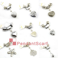 Wholesale Diy Scarves Pendant Set - 18PCS LOT Hot Selling Fashion 9 Designs Mixed DIY Necklace Jewellery Scarf Findings Accessories Charm Pendant Set, Free Shipping, AC18MIX