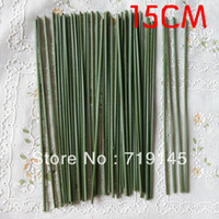 Wholesale Wholesale Fake Flower Stems - 200pcs 15cm artificial simulation fake rose flower stems DIY handmade flower home decoration
