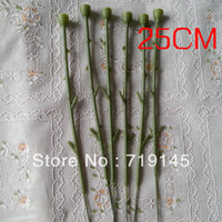 Wholesale Dried Stems - 200pcs 25cm artificial fake rose flower stems DIY handmade flower home decoration