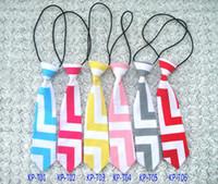 Wholesale Kids Neck Chokers - baby ties bow tie children Chevron tie fashion necktie child scarf neckwear kids handsome choker cravat baby accessories boys ties wholesale