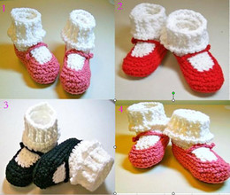 Baby Sale Crochet NZ - 10%off!Cheap sale Lapel warm shoes !crochet toddler shoes,Mary jane snow booties,baby shoes,hand-woven cheap shoes,china shoes.6pairs 12pcs