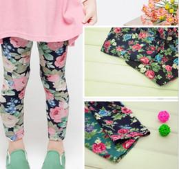 2019 calças de flores para meninas Venda por atacado - Legging bebê quente roupas meninas 'legging crianças flor calças Leggings meninas 1215 B 1201696209 desconto calças de flores para meninas