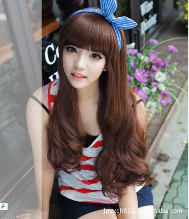 korean long hair style korean fashion style hair qi liu fluffy wig repair 4101 | korean fashion style long hair qi liu fluffy