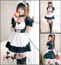 Wholesale Sexy Lolita Cosplay - Fashion Japanese anime EVA cosplay lolita maid fancy dress Halloween Christmas costume sexy women lace dresses black