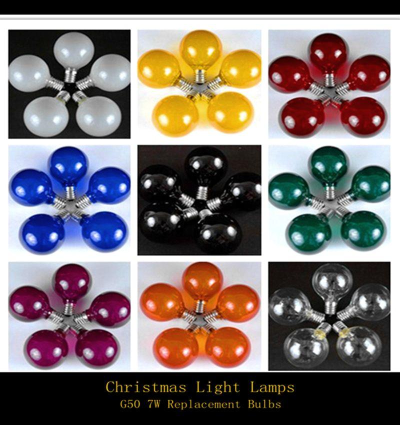 2017 Muti Color G50 Globe Replacement Bulbs 7w Pack Indooroutdoor