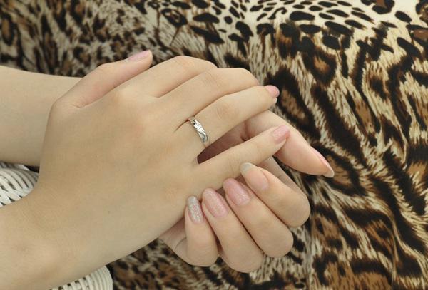 30% 925 Sterling Silver Rings 3 Layer Vit Guld Överlagring Ringar För Par Österrikiska Kristall Bröllop Par Finger Smycken Helt Ny