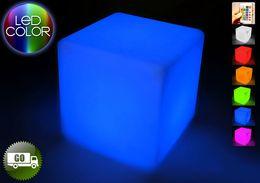 Melhor venda de móveis led! 40 CM x 40 CM x 40 CM LED cor móveis PE LED banco cadeira quadrada RGB hom jardim decoração 1 set / lote em Promoção