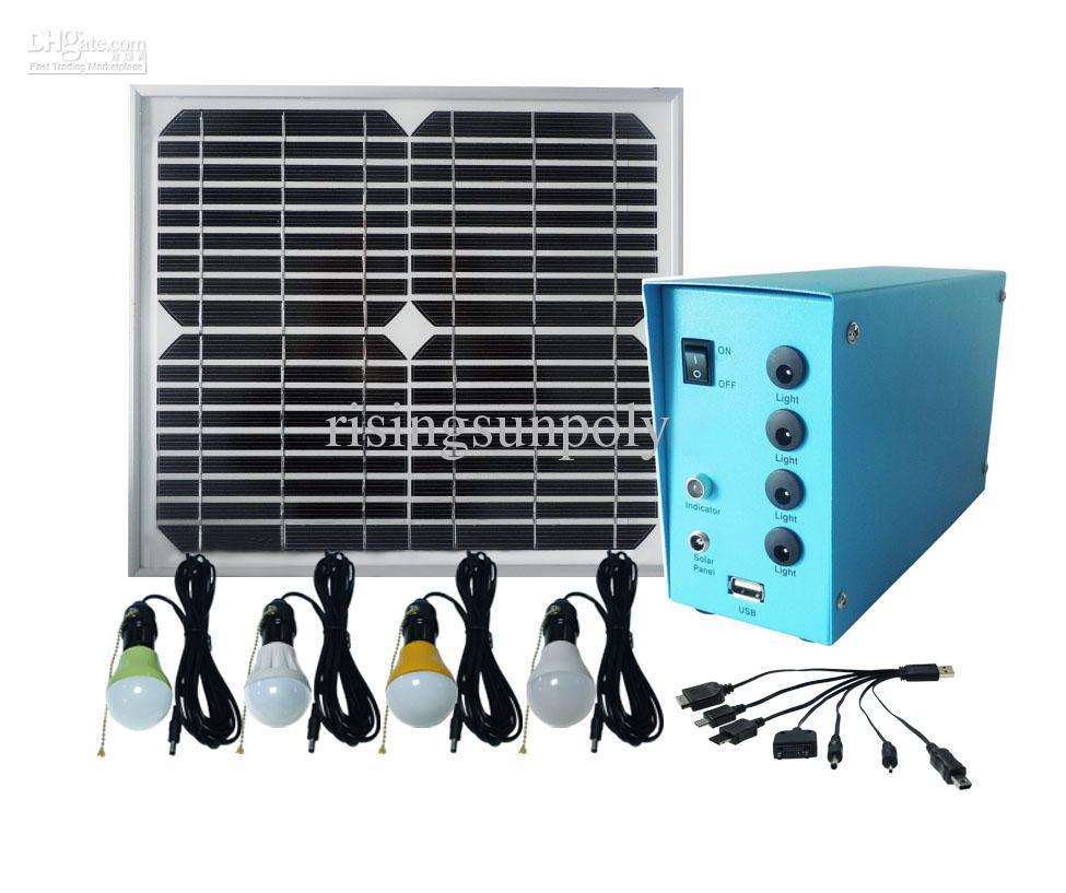 Solar Home Light Solar Indoor Light Solar Led Lamp For 4