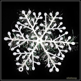 Wholesale Christmas Tree Snowflakes Decorations - Christmas Gift 180pcs lot 10x11cm White Snowflake Christmas Ornament Decoration 260048