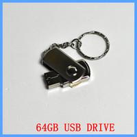 Wholesale custom flash drives resale online - GB Swivel metal Key Chain Custom USB Flash Memory Pen Drives Sticks Disks Pendrives