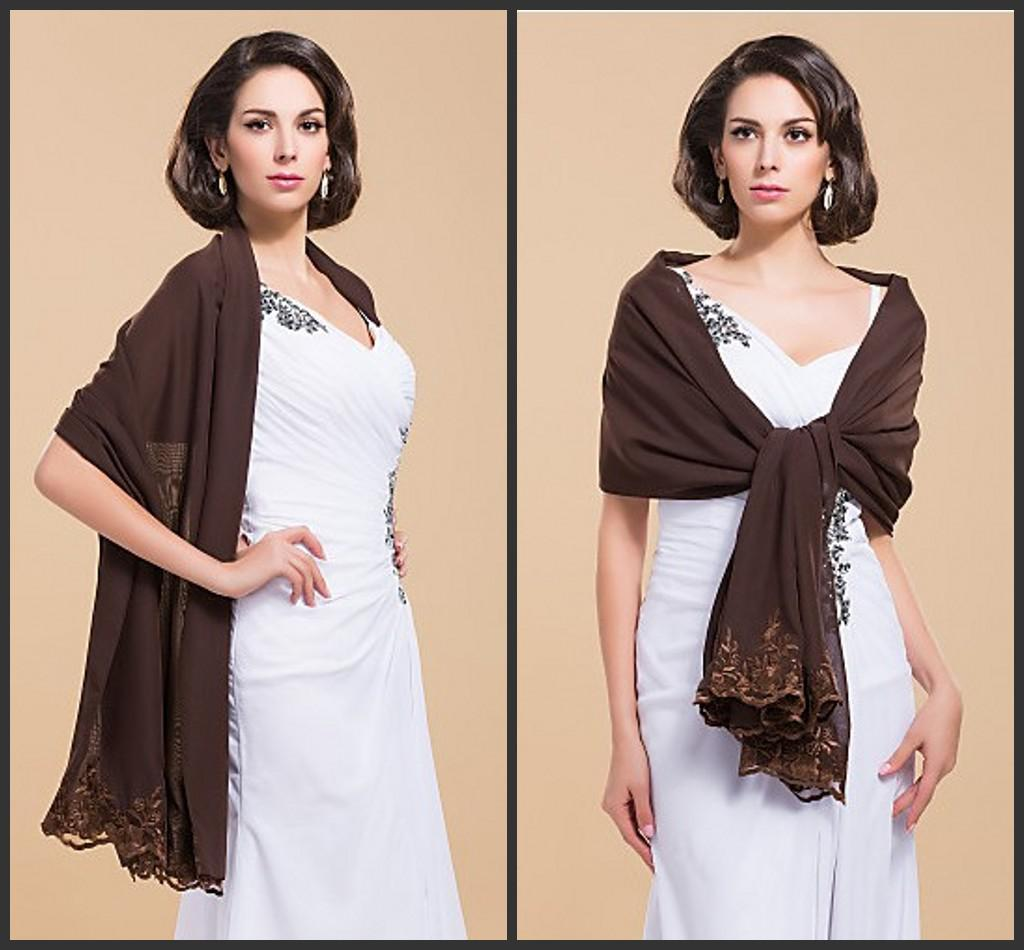 Chiffon shawls and wraps for evening dresses