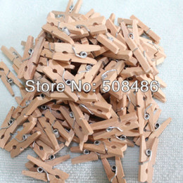 Wholesale Mini Pegs Wooden - 100 PCS LOT Natural Mini Wooden Peg 25 mm for DIY Christmas Decoration Supplies 1012
