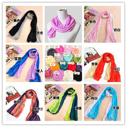 Wholesale Cheap Lace Scarves - Hot Sale Women Scarves Chiffon Cute Small Wrap Shawls Pashmina Lady Scarf Fashion Lady Accessories Mix Color Cheap Scarfs WJ046
