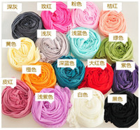 Wholesale Cheap Lace Scarves - Wholesale Women Color Scarves Chiffon Cute Small Wrap Shawls Pashmina Lady Scarf Fashion Lady Accessories Mix Color Cheap Scarfs WJ046