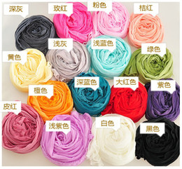 Wholesale Cheap Pashmina Scarves Shawls - Wholesale Women Color Scarves Chiffon Cute Small Wrap Shawls Pashmina Lady Scarf Fashion Lady Accessories Mix Color Cheap Scarfs WJ046