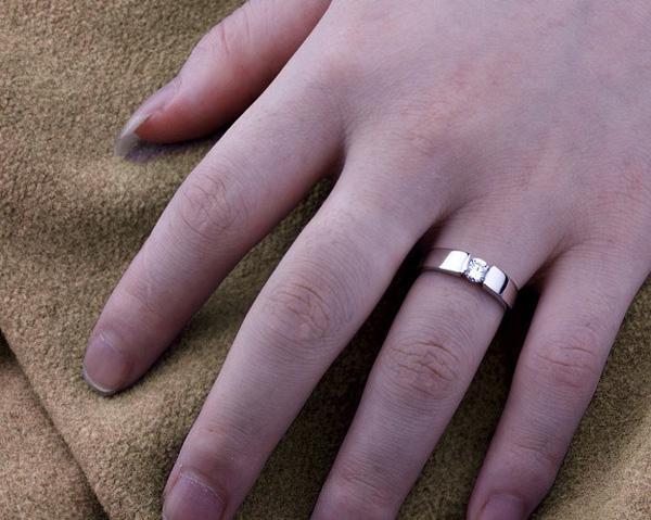 18K Weißgold Eheringe für Paar 30% 925 Sterling Silber Charms Österreichische Kristall Verlobungsringe für Frauen Männer