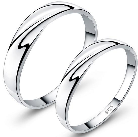 White Gold Women Rings 30% 925 Sterling Silver Wedding Jewelry Charms Austrian Crystal Engagement Couple Rings Ladies Gift