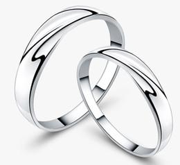 Weißgold Frauen Ringe 30% 925 Sterling Silber Hochzeit Schmuck Charms Österreichischen Kristall Engagement Paar Ringe Damen Geschenk Freeshipping von Fabrikanten
