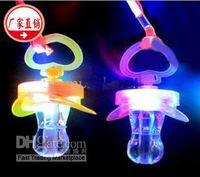 Wholesale Led Light Pacifier - Wholesale - 100PCS LED pacifiers whistles whistle flashlight flasher flashing stick led stick flash wand light stick