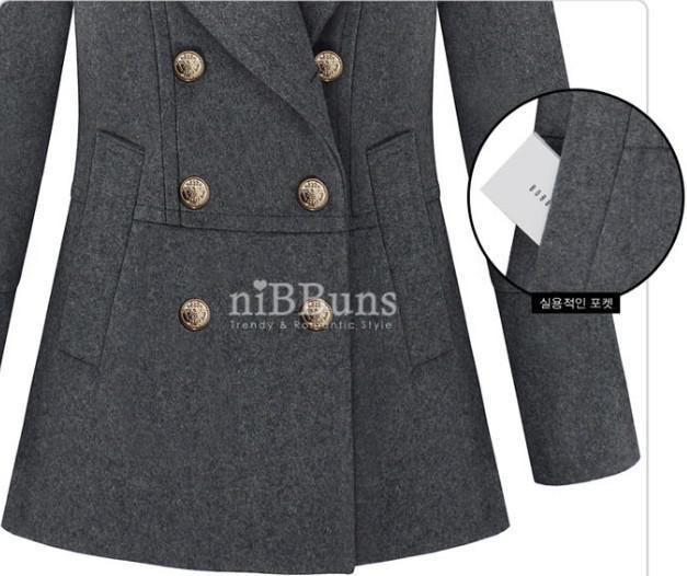 nuevo OL delgado Chaquetas de doble botonadura para mujer gabardinas para mujer abrigos para mujer Outwear abrigo de lana negro