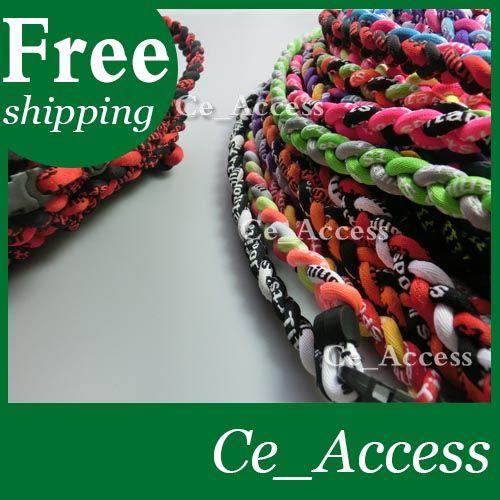 New color power fashionable healthy custom braided titanium baseball necklace