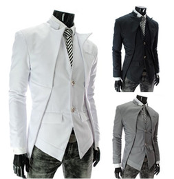 Wholesale Slim Suit Small - Free shipping - men's suits Korean Fashion Slim small suit jacket sportsman