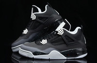 Wholesale Basket Running - Wholesale Basketball Shoes Retro IV 4 FEAR PACK Black Cool Grey Stealth Oreo Royalty White Cement 4s Running Shoes Athletics Sneaker Trainer