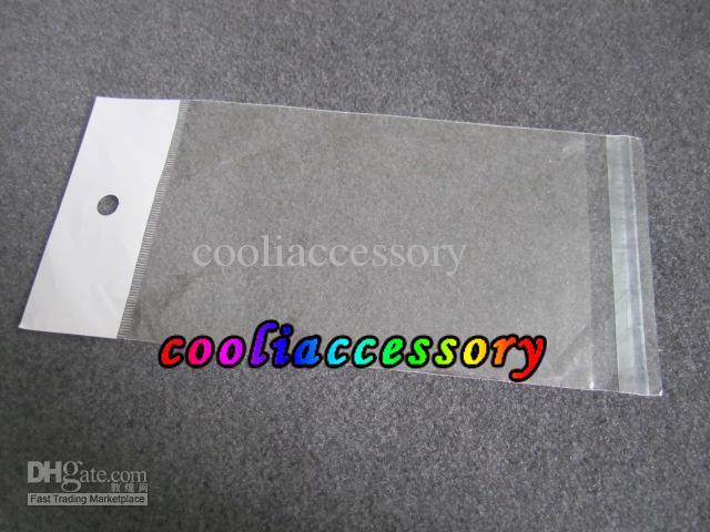 Поли прозрачный прозрачный розничный мешок Упаковка Упаковка для Iphone 3G 4G 4 4S 5 5C 5S Samsung Galaxy S3 S2 S4 чехол для телефона 500шт