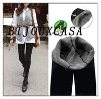 Wholesale Bamboo Footless Leggings - Hotsale FashionLady Woman Bamboo Carbon Fiber Leggings Double Thermal Warm Footless Tights