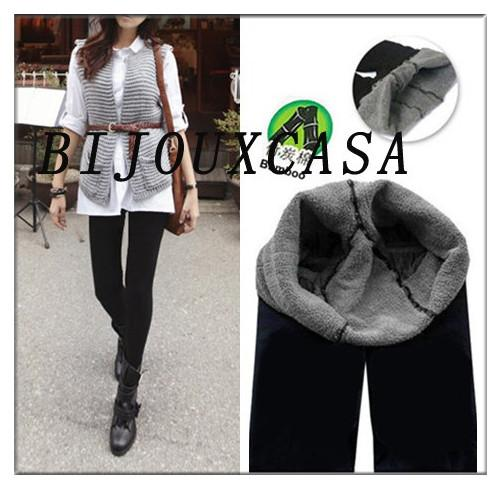 Hotsale FashionLady Woman Bamboo Carbon Fiber Leggings Double Thermal Warm Footless Tights