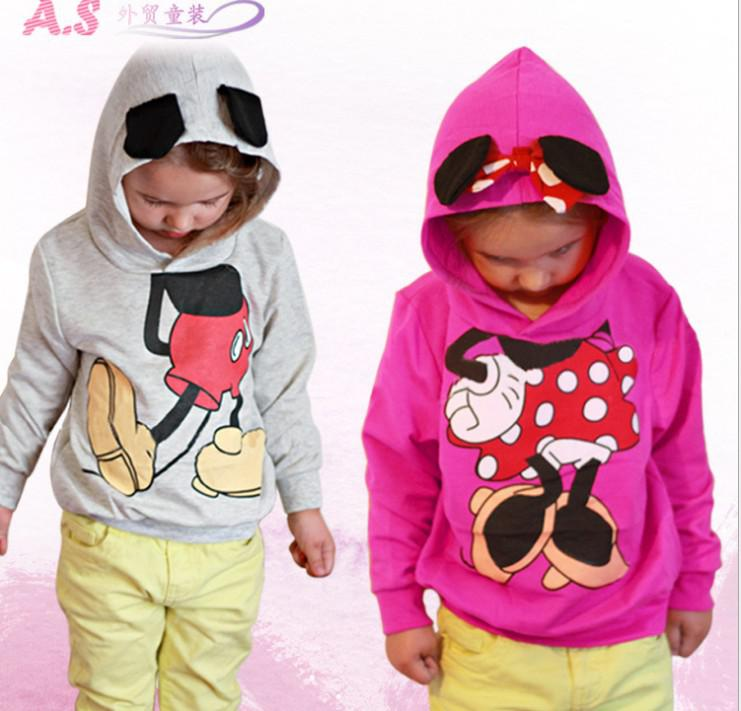 Minnie Mouse Hoodies Christmas Coats Boys Girls Hooded Jacket ...