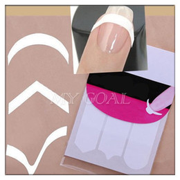 Wholesale Guides Tips - 20 Packs French Nail Finger Manicure Tip Guides PVC Nail Sticker DIY Stencil