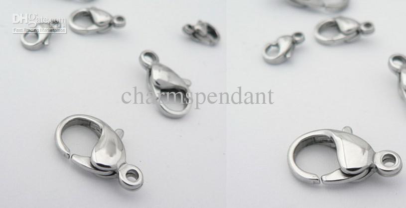 Altro Scegli la dimensione 9mm-23mm Accessori gioielli di alta qualità Accessori fermagli in acciaio inossidabile
